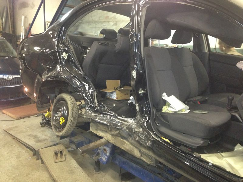 Chevrolet до кузовного ремонта