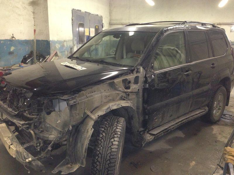 Lexus, дверь до кузовного ремонта