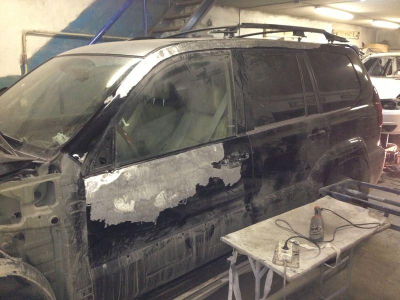 Lexus, дверь после кузовного ремонта