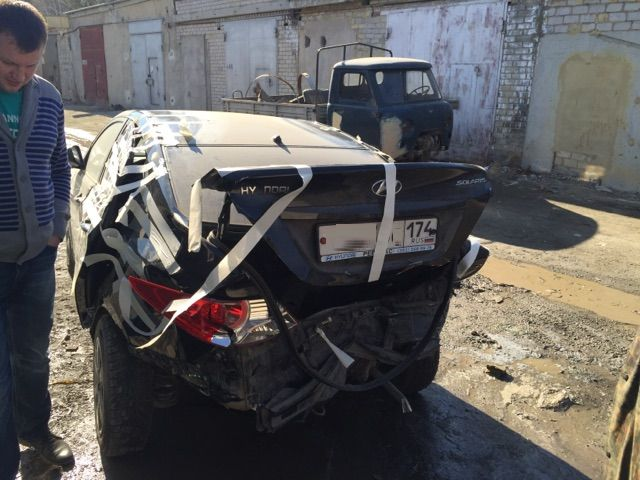 Hyundai Solaris - сложный кузовной ремонт