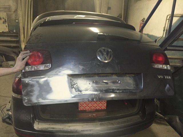 Volkswagen - кузовной ремонт крышки багажника
